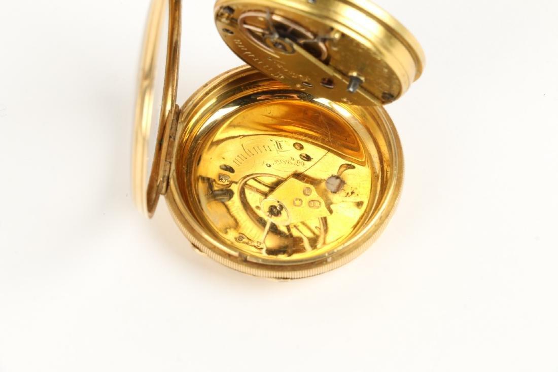 18K Gold English Pocket Watch - 8