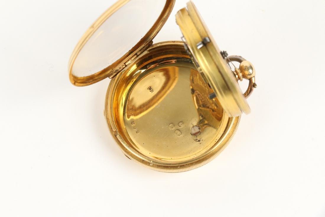 18K Gold English Pocket Watch - 9