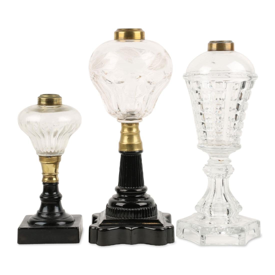 Early Whale Oil Lamps