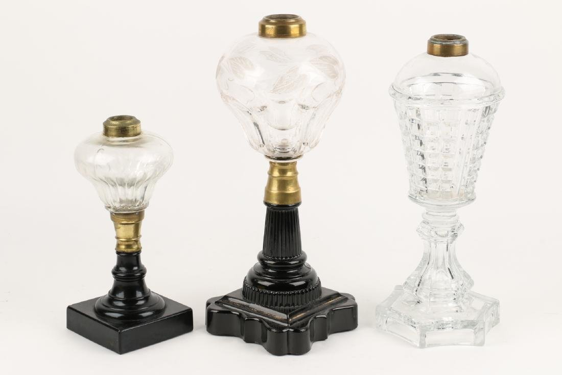 Early Whale Oil Lamps - 2
