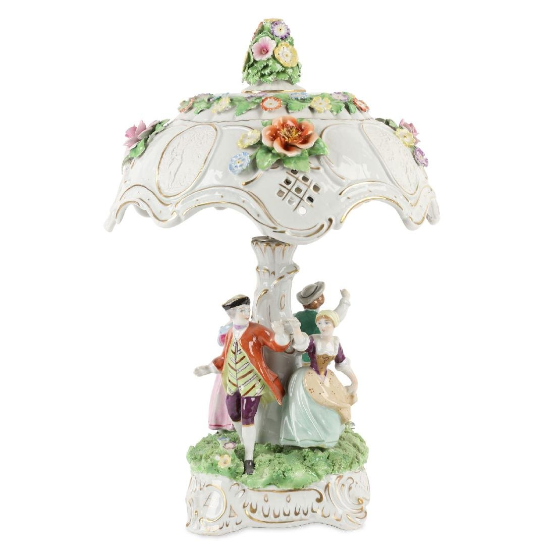 German Porcelain Table Lamp