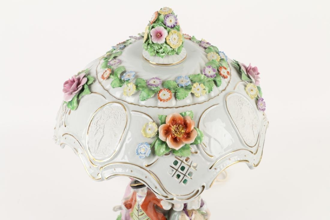 German Porcelain Table Lamp - 2