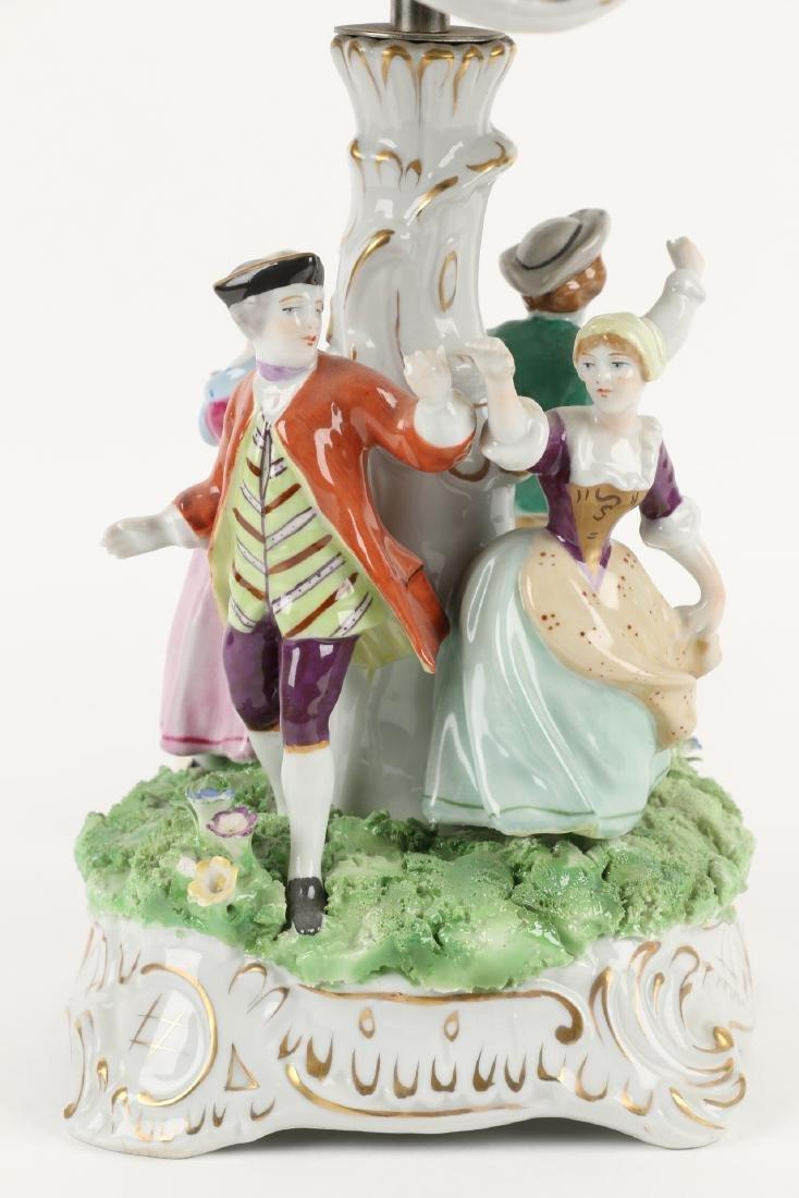 German Porcelain Table Lamp - 4