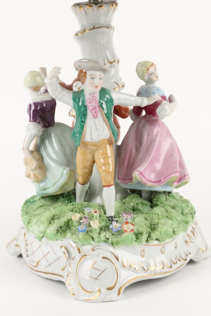 German Porcelain Table Lamp - 6