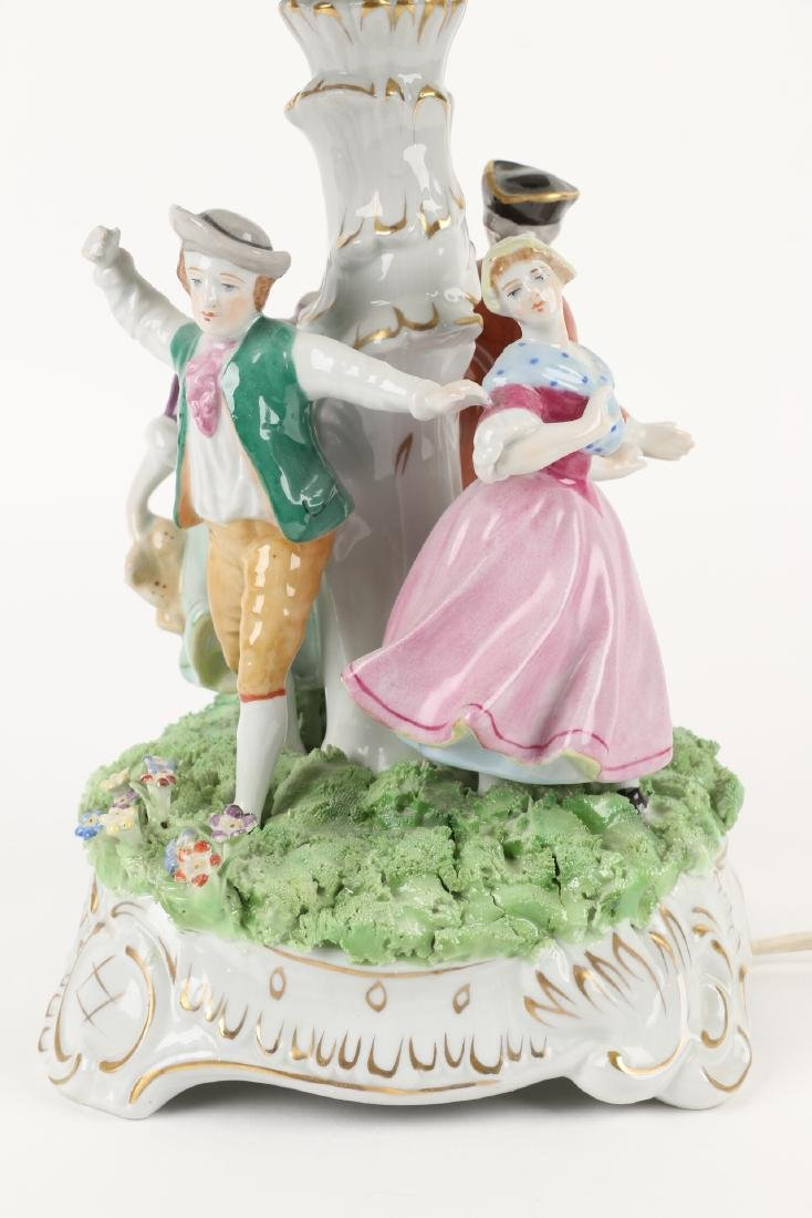 German Porcelain Table Lamp - 7