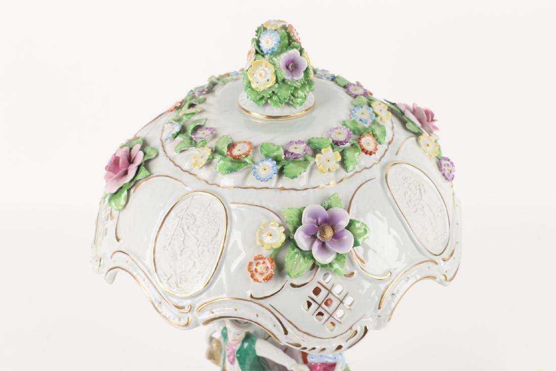 German Porcelain Table Lamp - 8