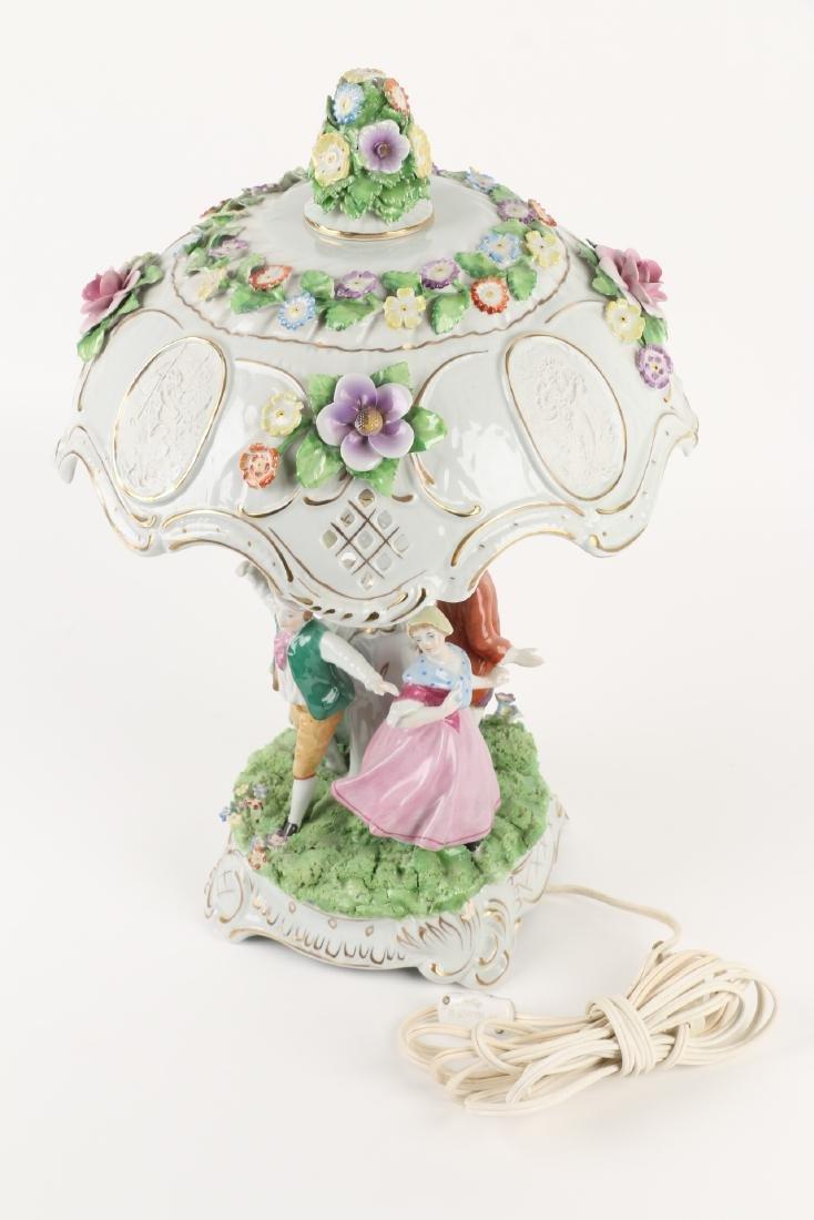 German Porcelain Table Lamp - 9