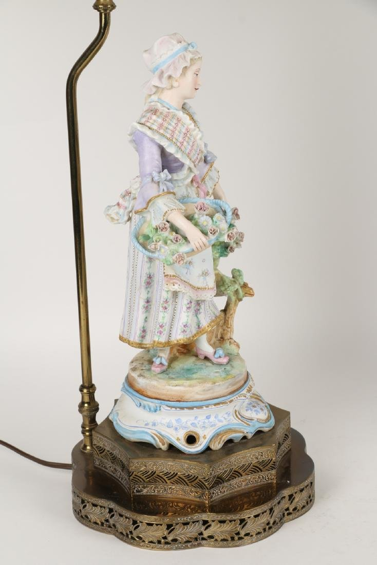 German Bisque Porcelain Lamps - 4