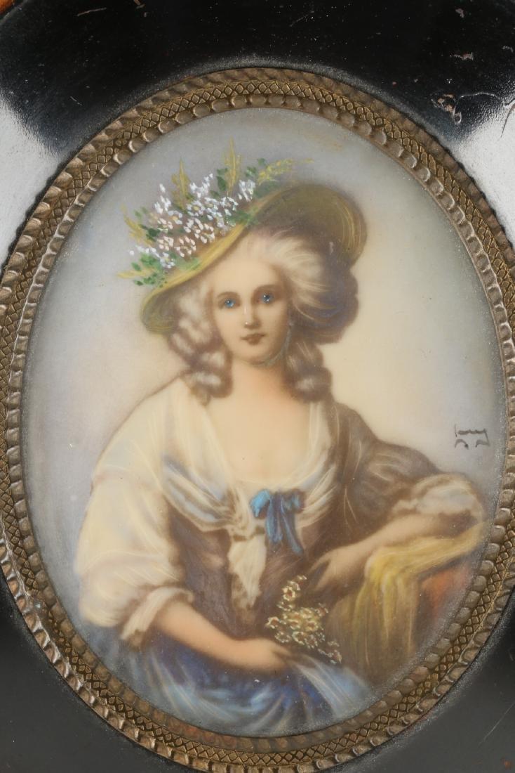 Signed Portrait Miniature - 2