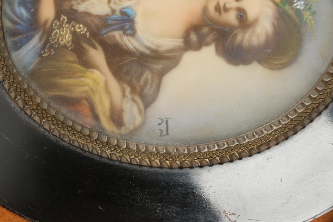 Signed Portrait Miniature - 3