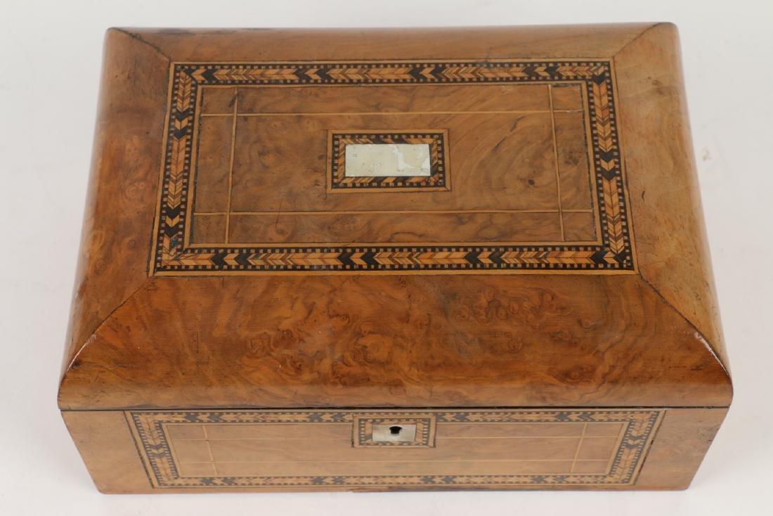 Tunbridge Inlaid Sewing Box - 3