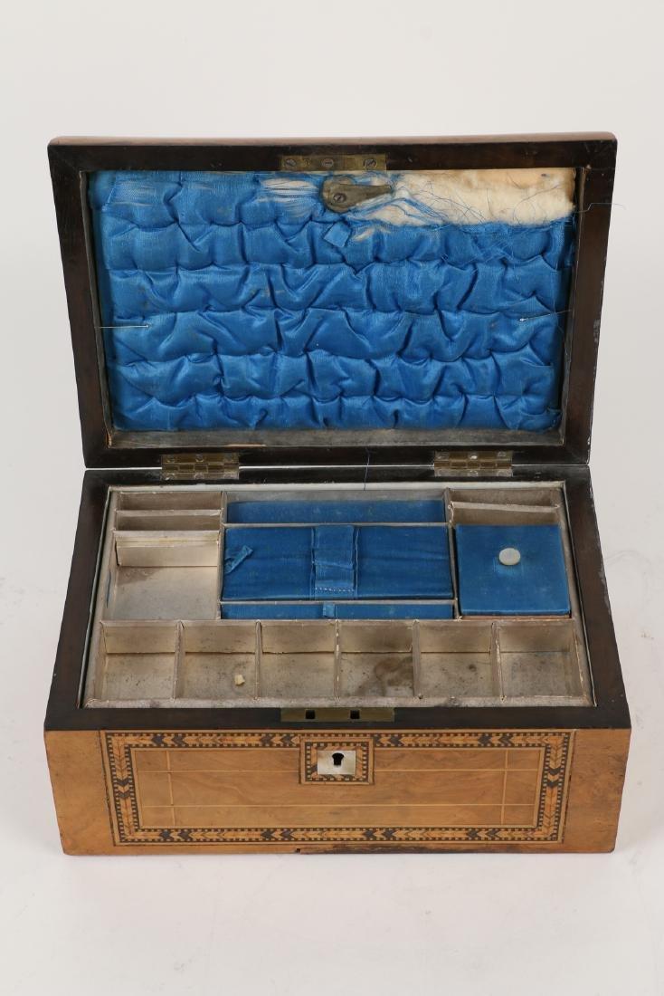 Tunbridge Inlaid Sewing Box - 7