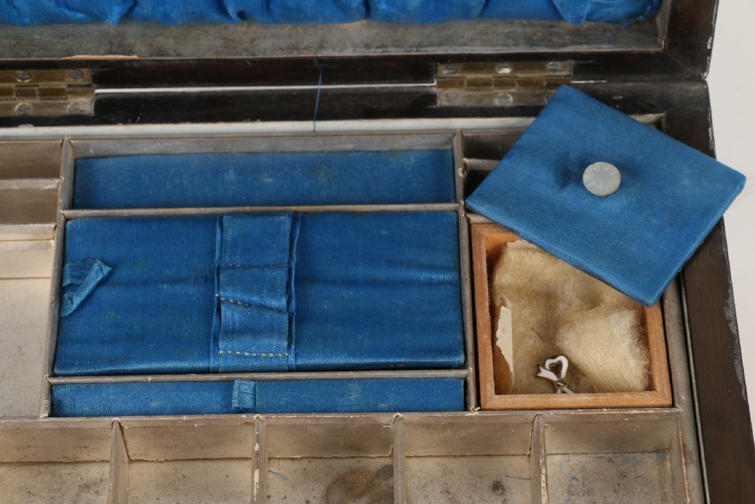 Tunbridge Inlaid Sewing Box - 8