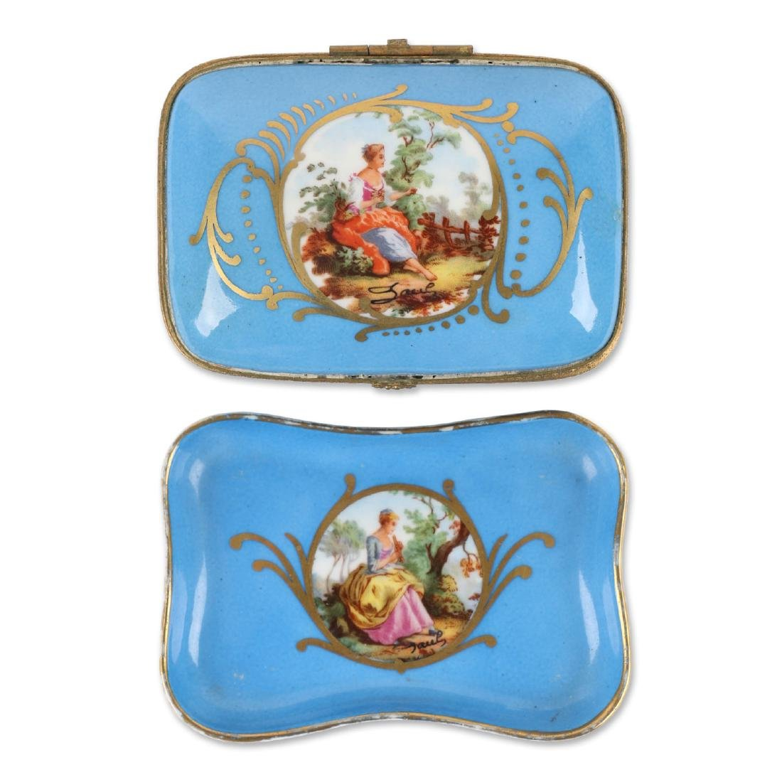 Sevres Covered Dish & Tray