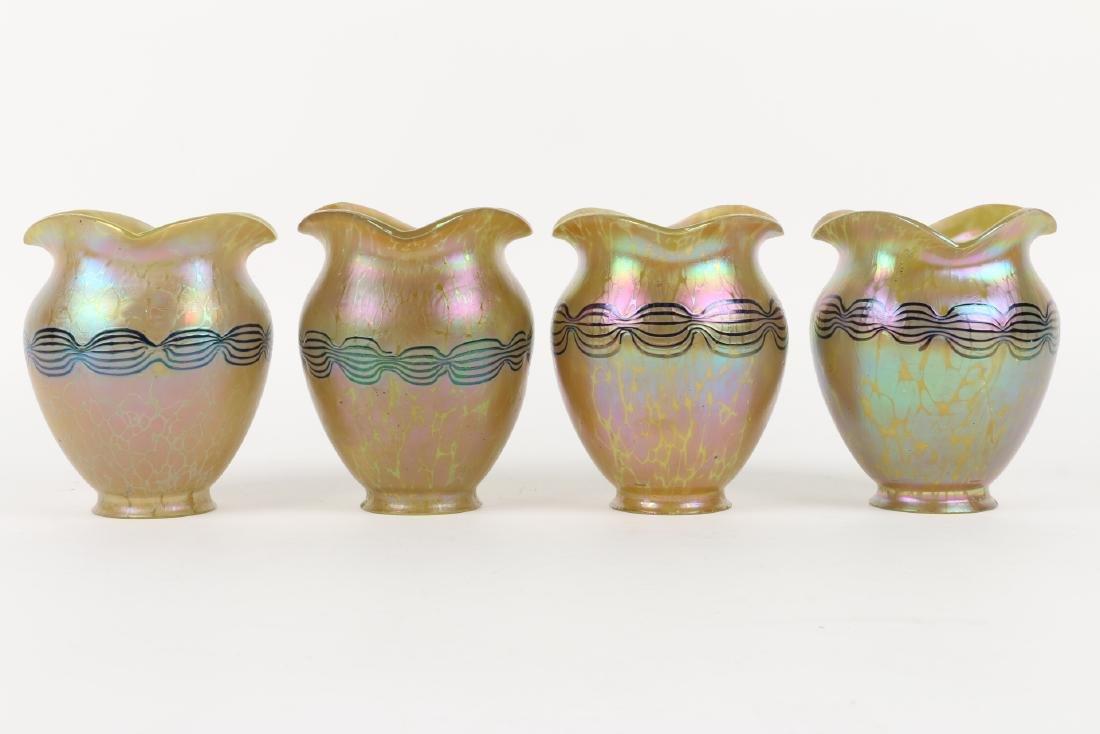 Loetz Art Glass Lamp Shades - 3