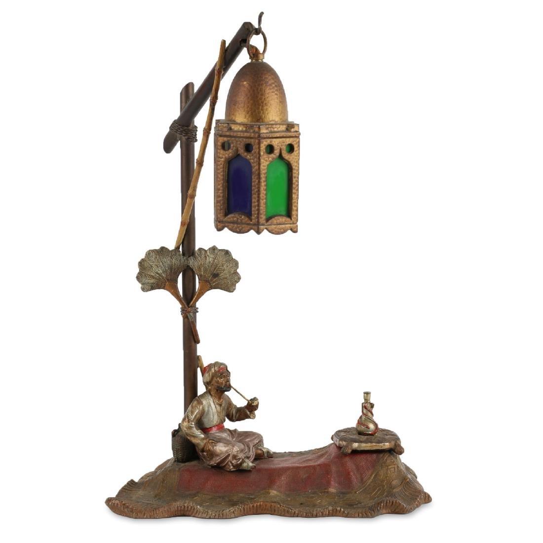 Bergman-Style Spelter Desk Lamp