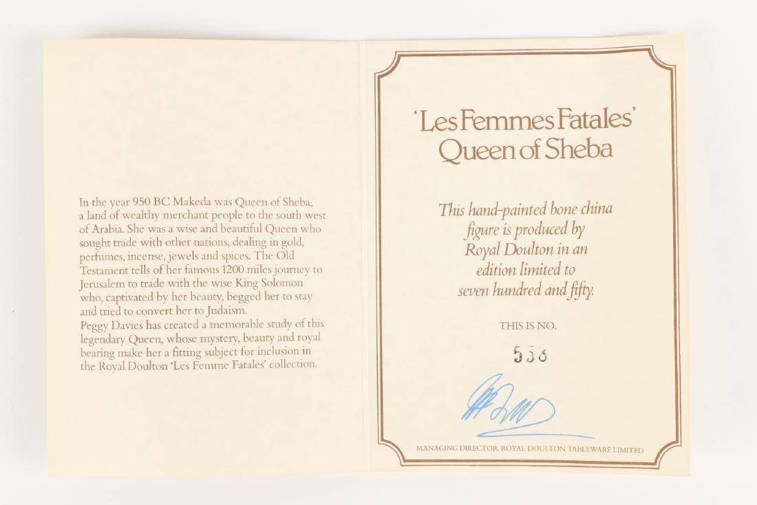 """Royal Doulton """"Queen of Sheba"""" Figurine - 9"""