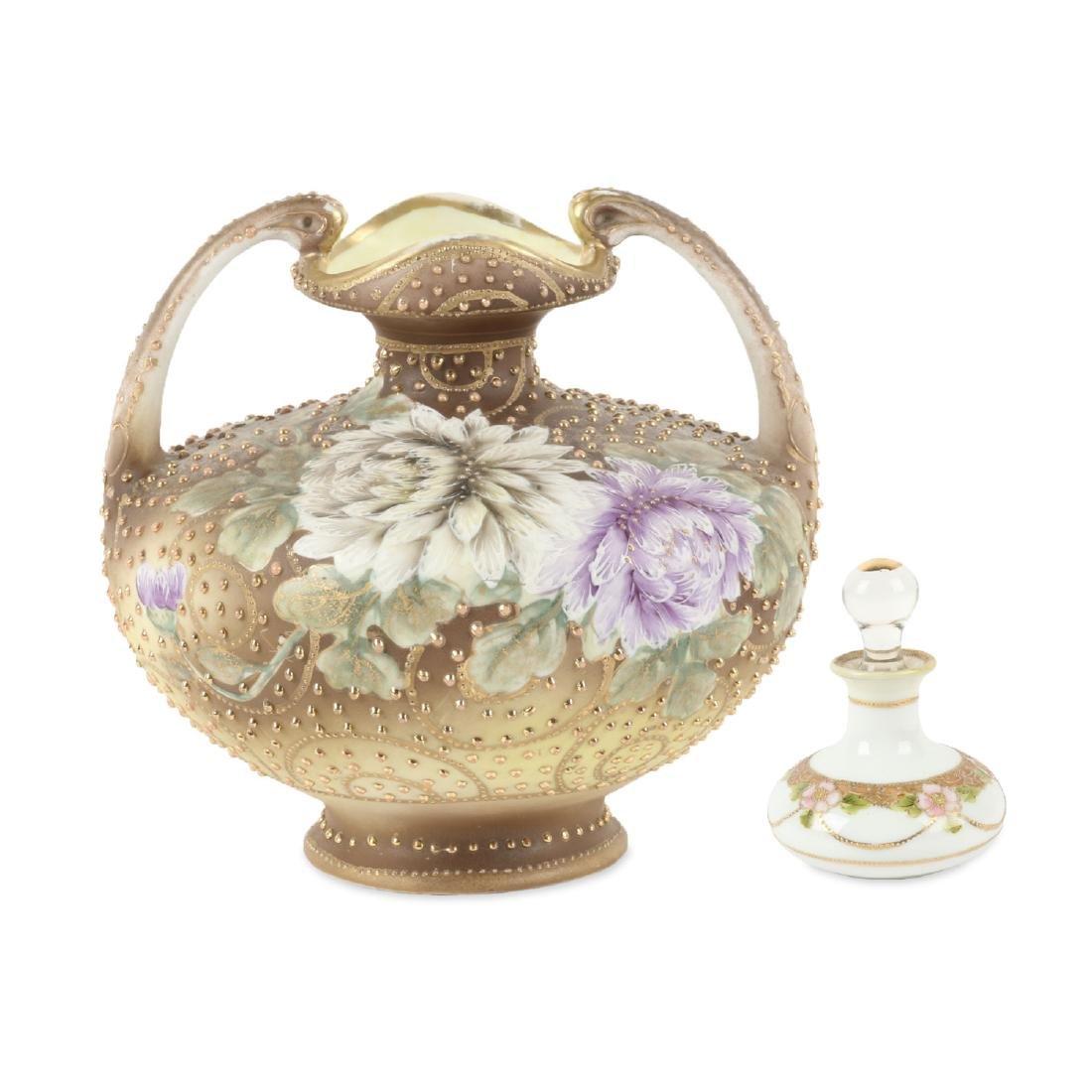 Nippon Beaded Porcelain Vase, Perfume
