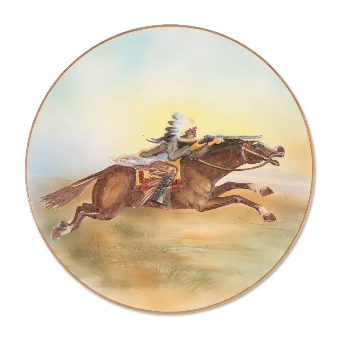 Nippon Native & Rifle Porcelain Plate