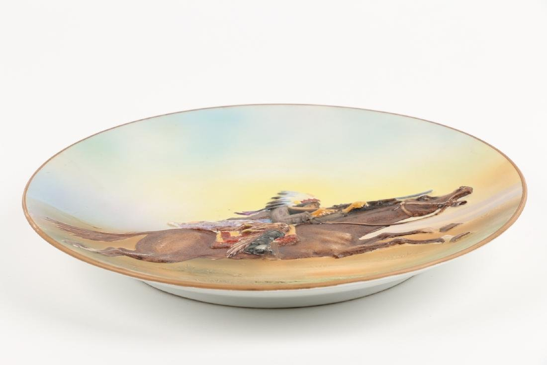 Nippon Native & Rifle Porcelain Plate - 3
