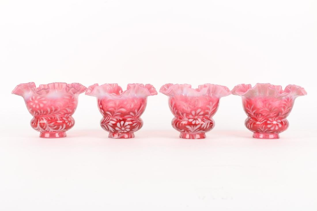 Fenton Art Glass Lamp Shades - 4