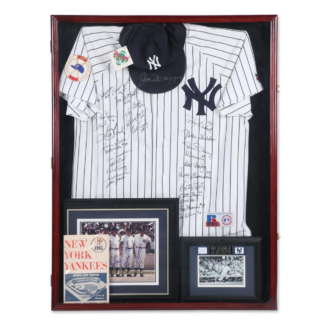 1961 Yankees Jersey, Program, Cap ++