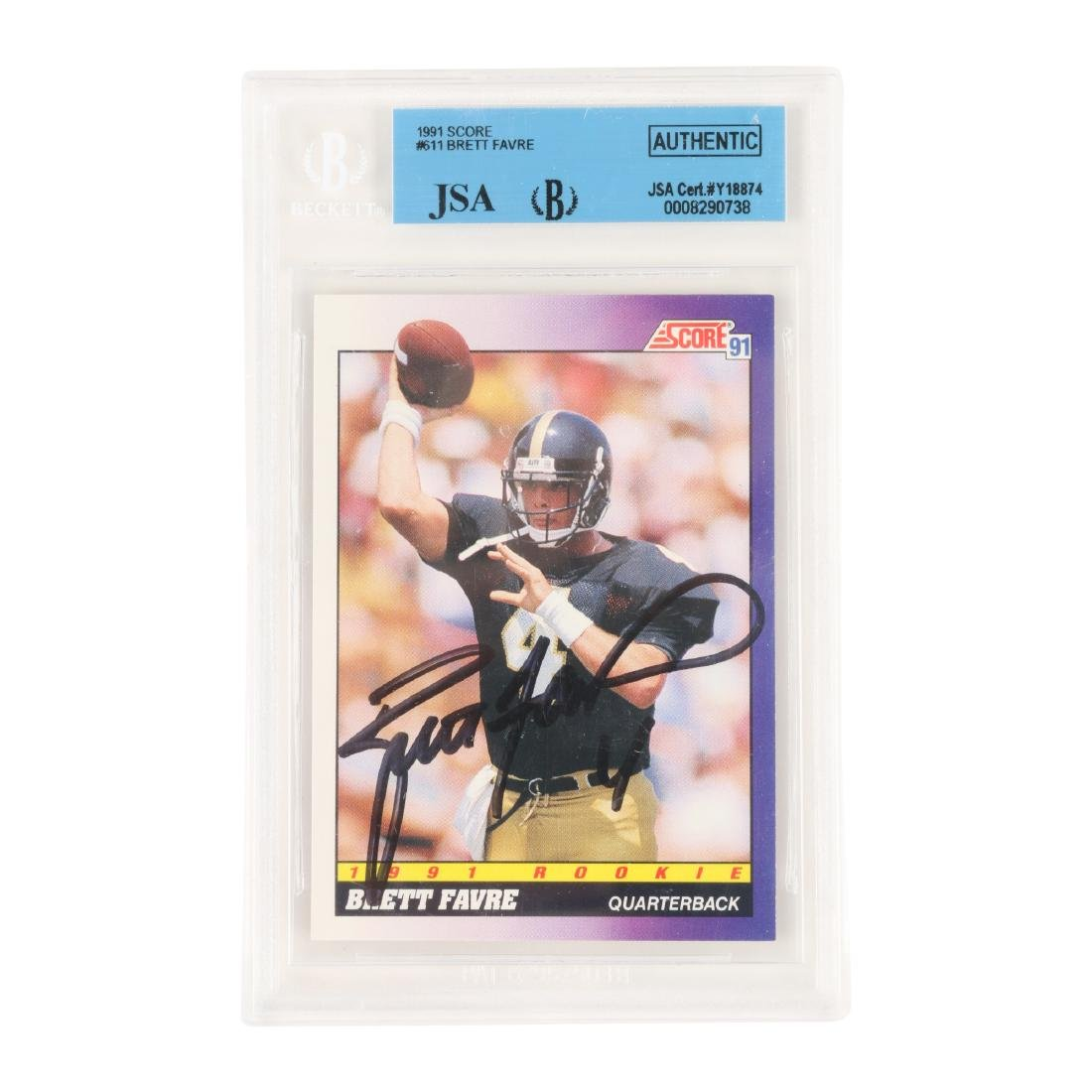 Brett Favre Signed Football Card