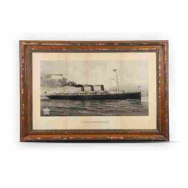 Northern Steamship Framed Lithograph