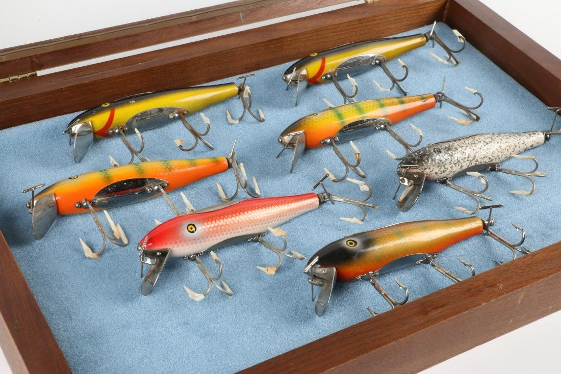 Pflueger Musky Mustangs With Display Case - 4