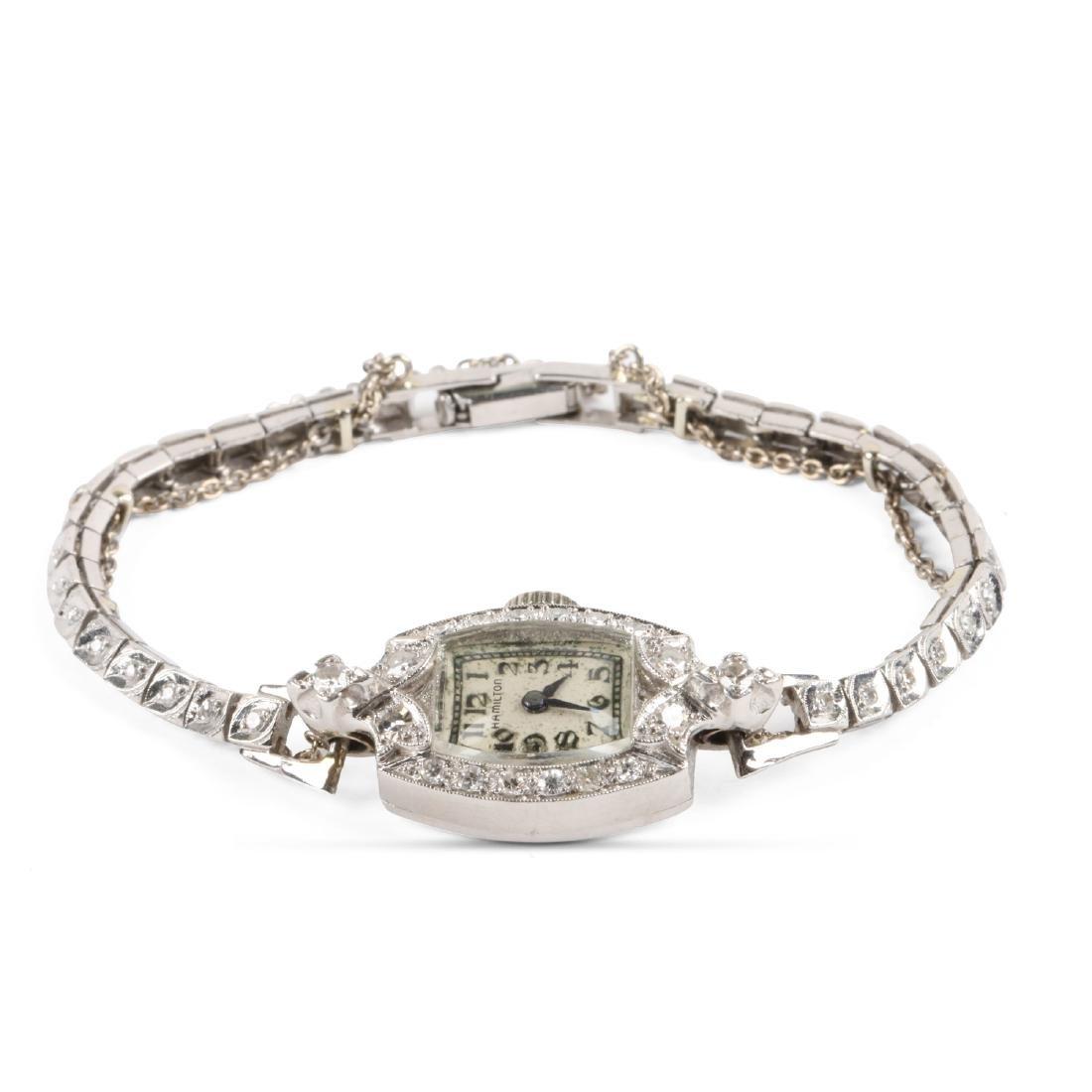 Hamilton, Lady's Platinum Cocktail Watch