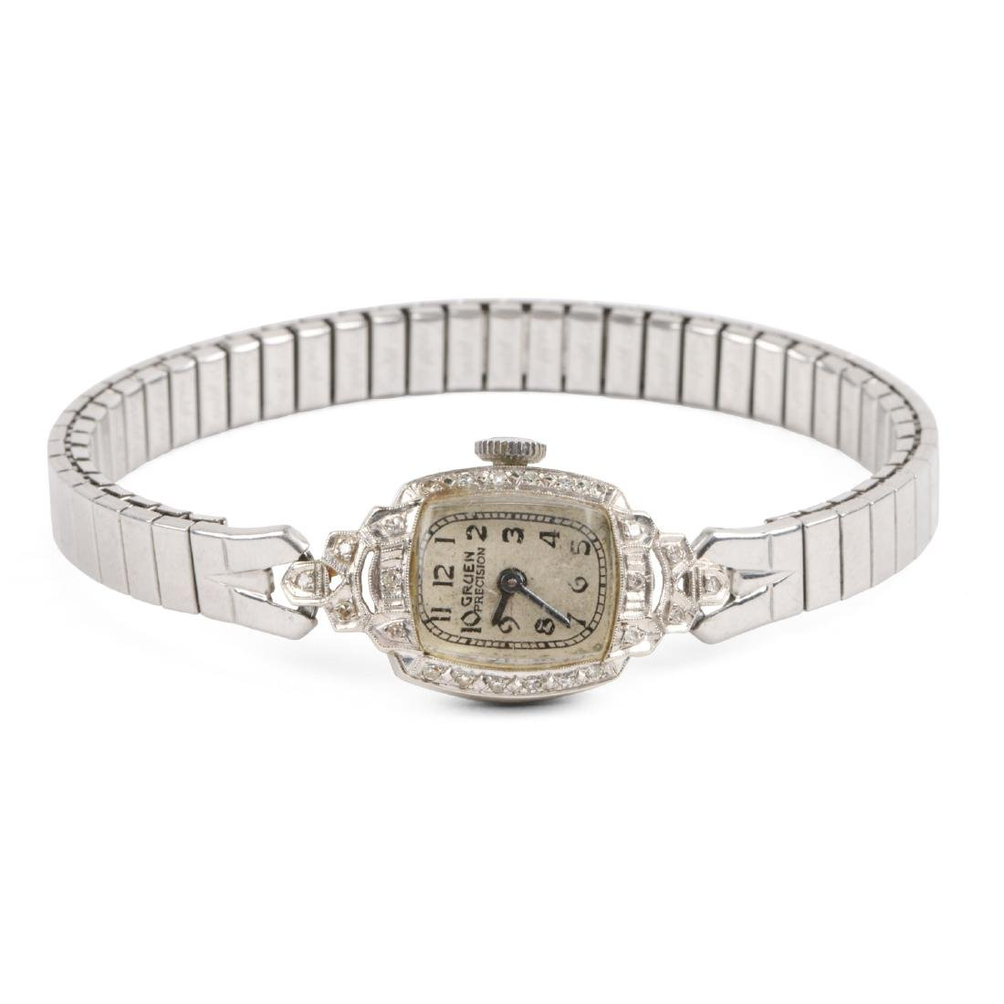 "Gruen, 14K ""Precision"" Lady's Cocktail Watch"