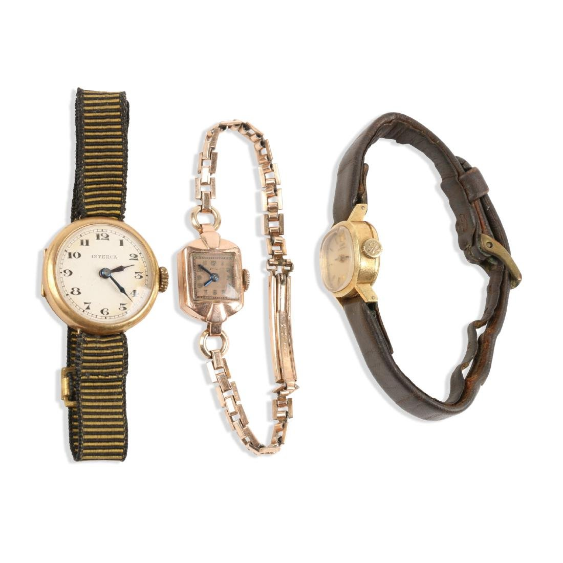 Swiss, Lady's Gold Cocktail Watches
