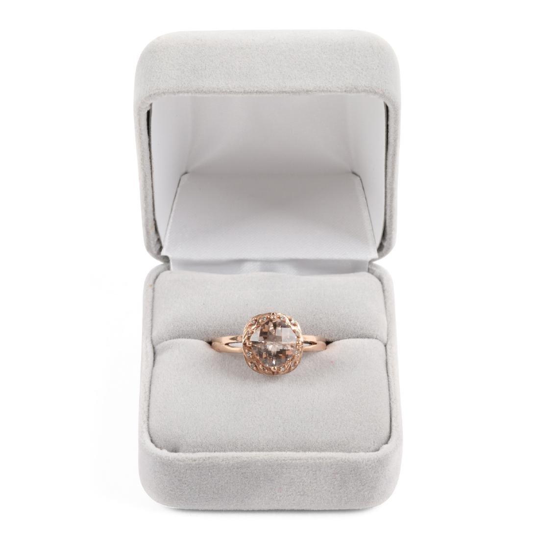 A 10K Rose Gold & Diamond Ring