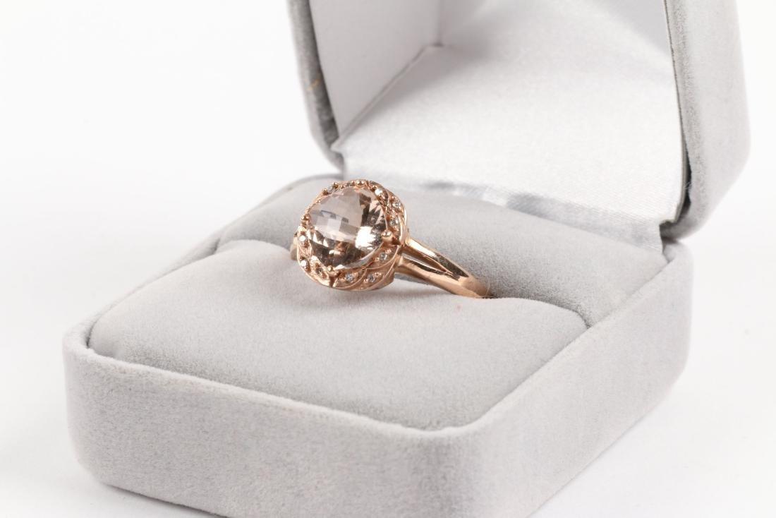 A 10K Rose Gold & Diamond Ring - 2