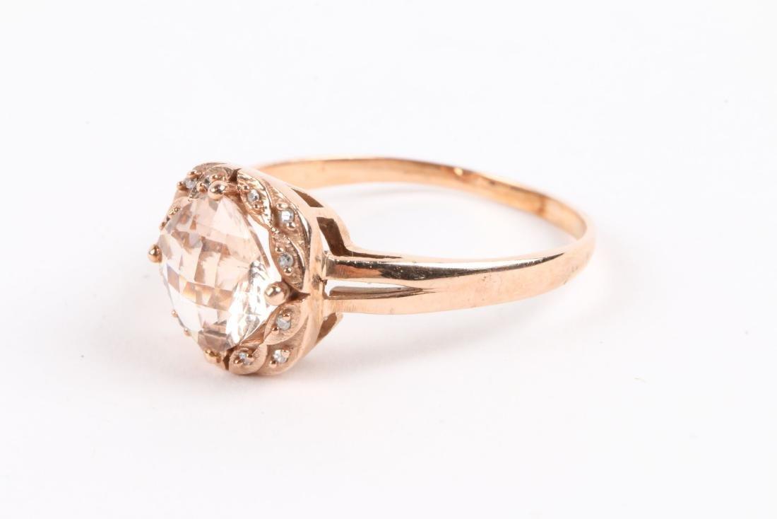 A 10K Rose Gold & Diamond Ring - 3