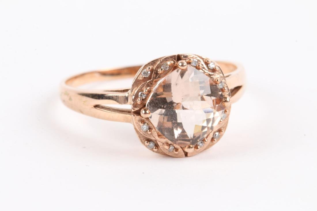 A 10K Rose Gold & Diamond Ring - 4