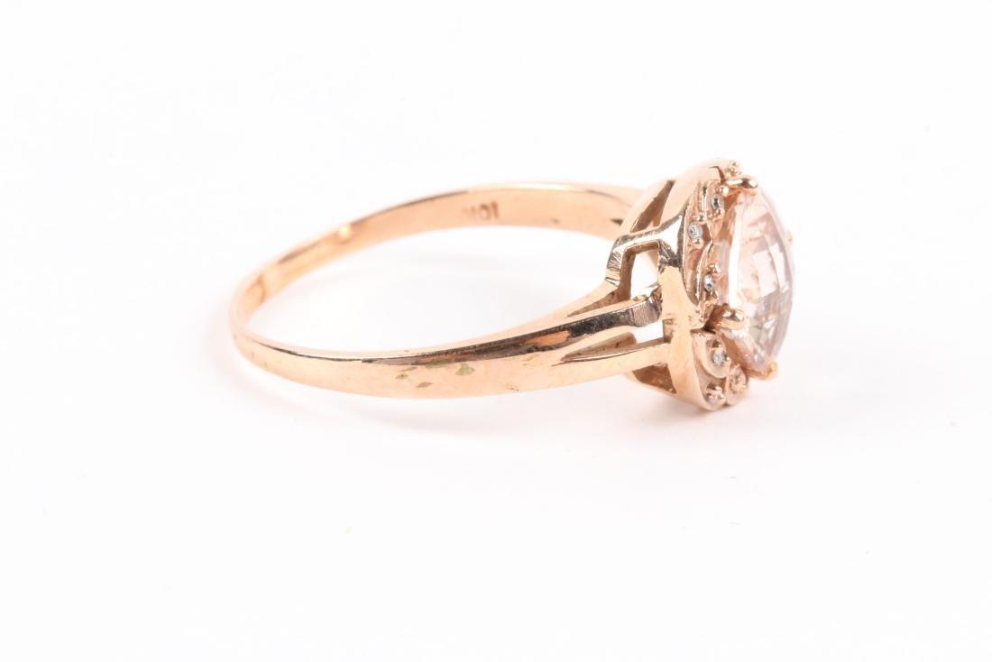 A 10K Rose Gold & Diamond Ring - 5