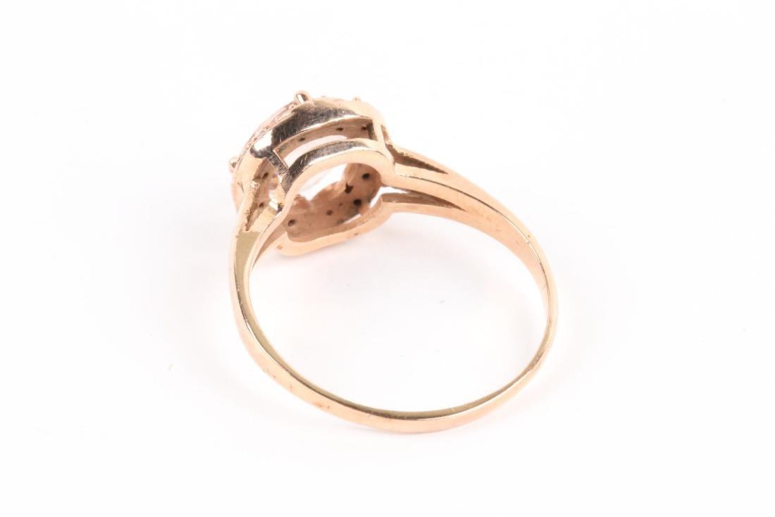 A 10K Rose Gold & Diamond Ring - 6