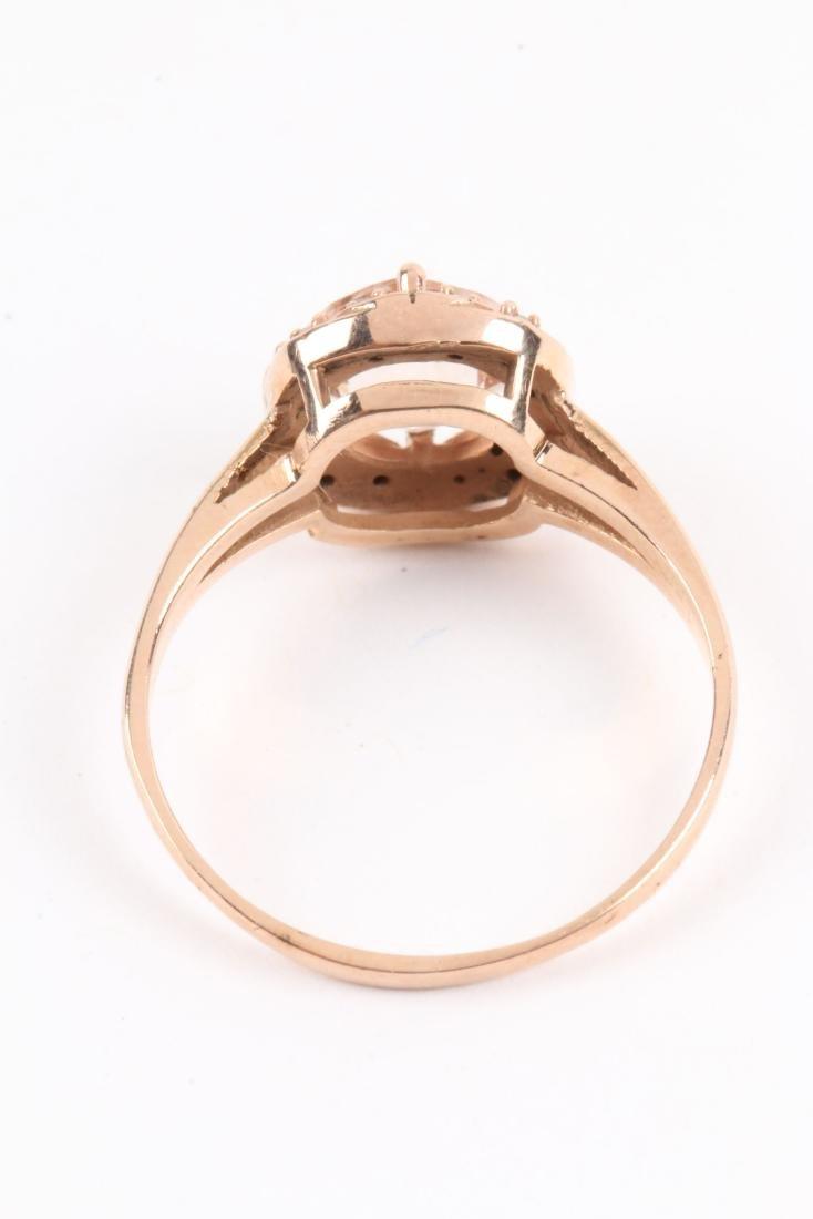A 10K Rose Gold & Diamond Ring - 7