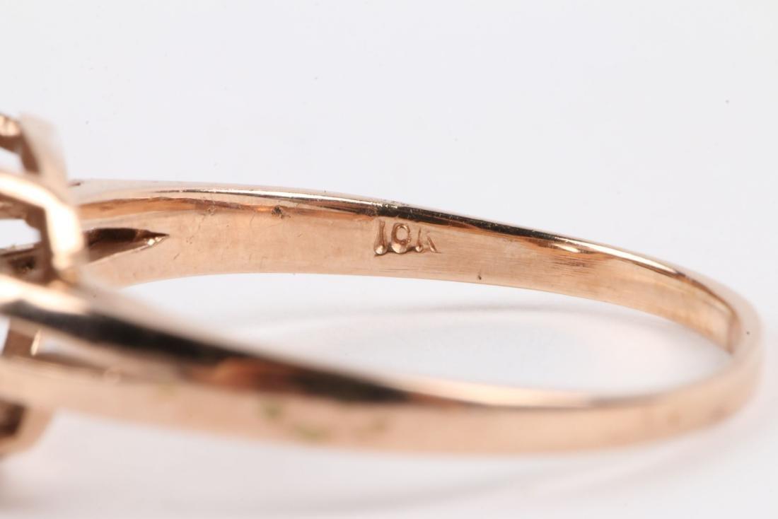 A 10K Rose Gold & Diamond Ring - 8
