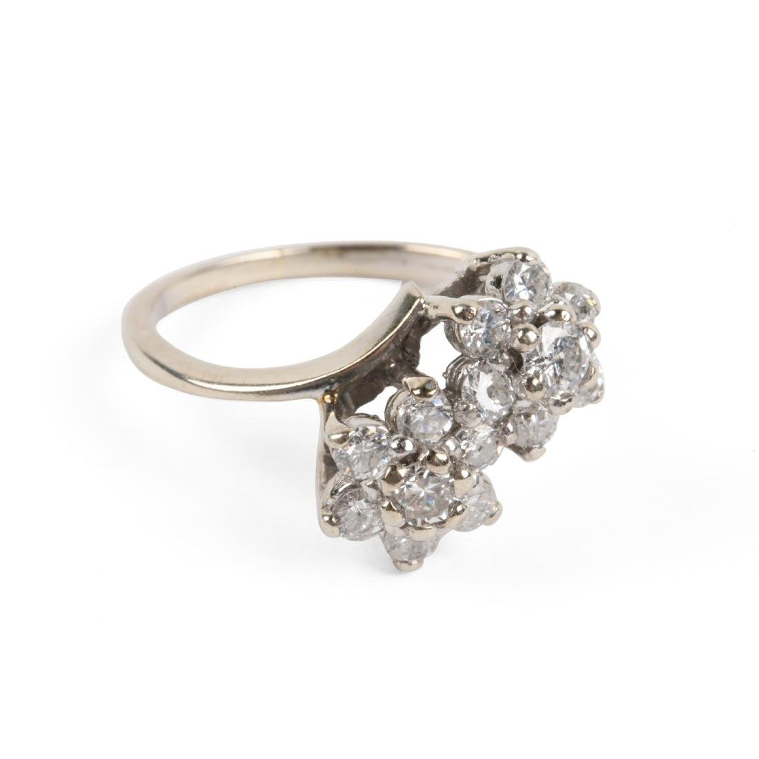 A 14k Gold & Diamond Cluster Ring