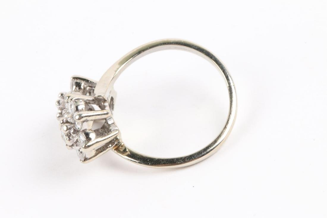 A 14k Gold & Diamond Cluster Ring - 6