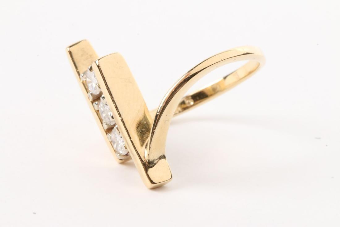 A 14K Gold & Diamond Ring - 2