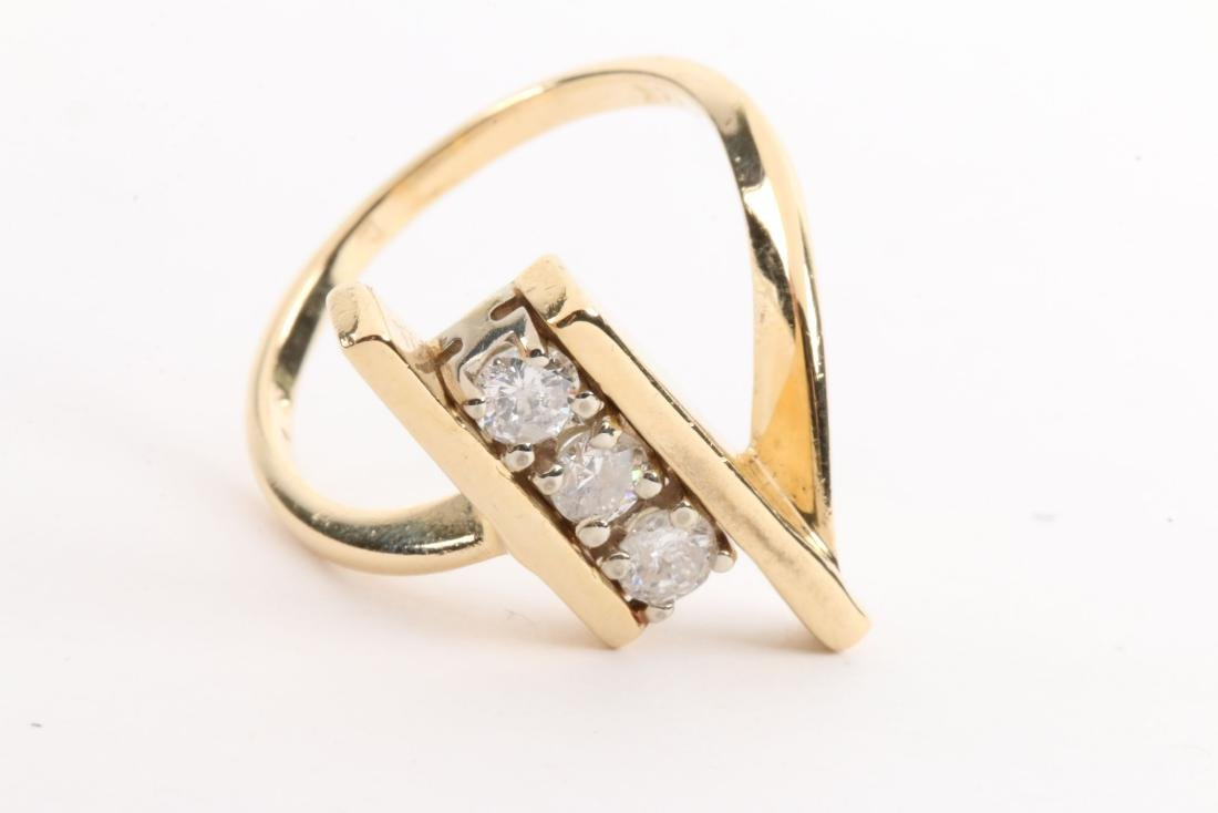 A 14K Gold & Diamond Ring - 3