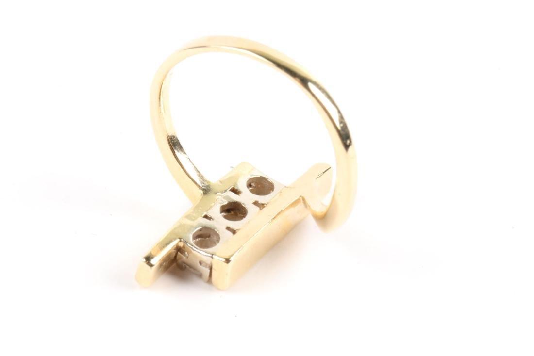 A 14K Gold & Diamond Ring - 4