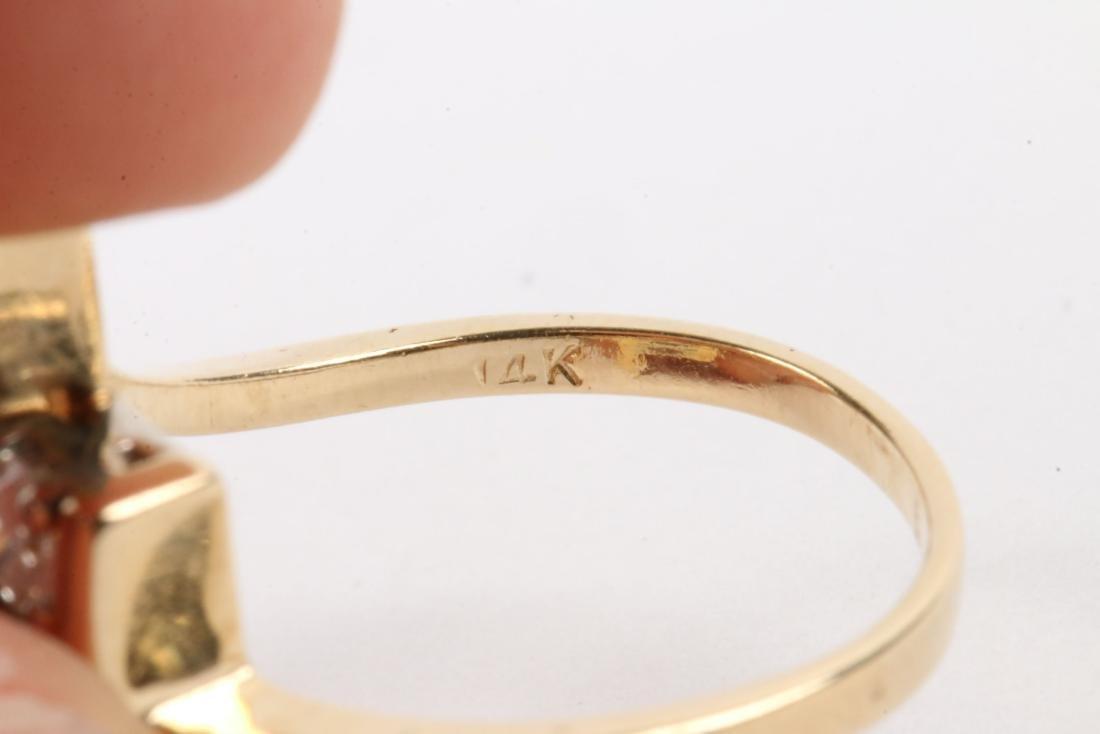 A 14K Gold & Diamond Ring - 5