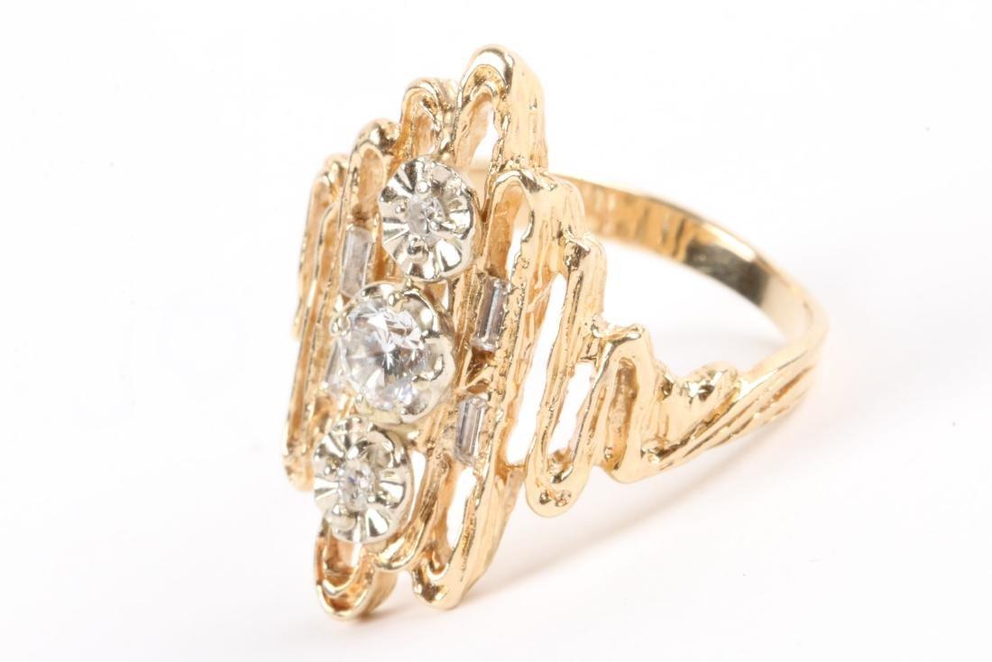 A 14k Gold, Diamond Ring - 2
