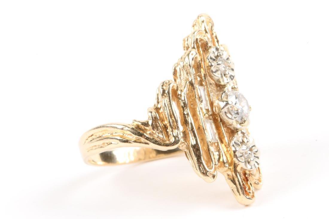 A 14k Gold, Diamond Ring - 3