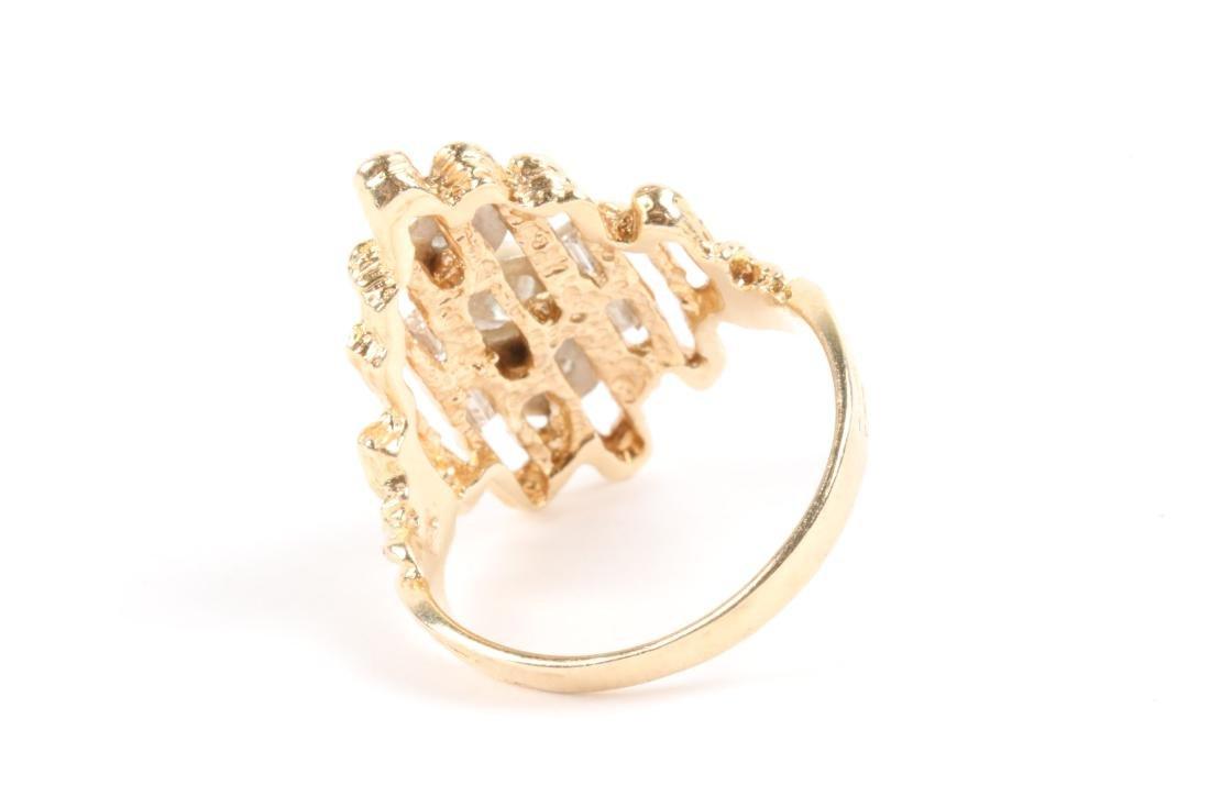 A 14k Gold, Diamond Ring - 4