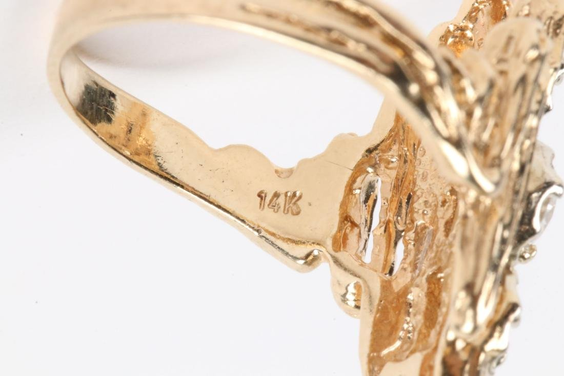 A 14k Gold, Diamond Ring - 5